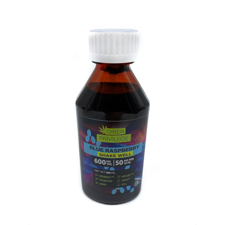 1200mg THC Syrup Blue Raspberry Green Privilege